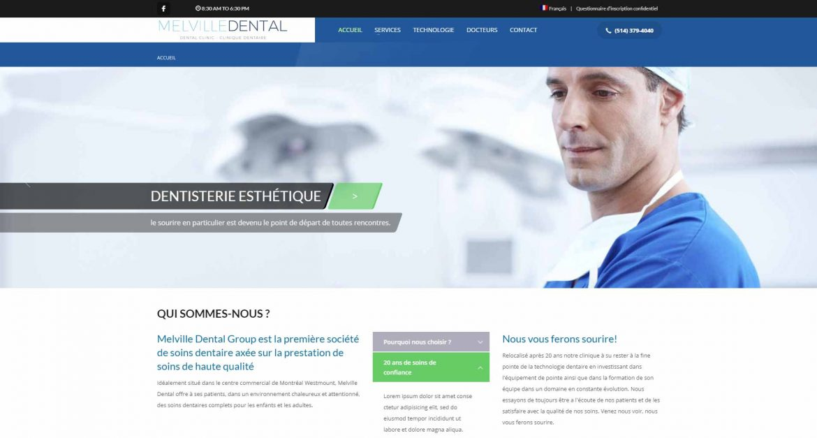 screenshot-website-melville dental group